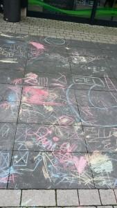 Straßenkreide-Kunst